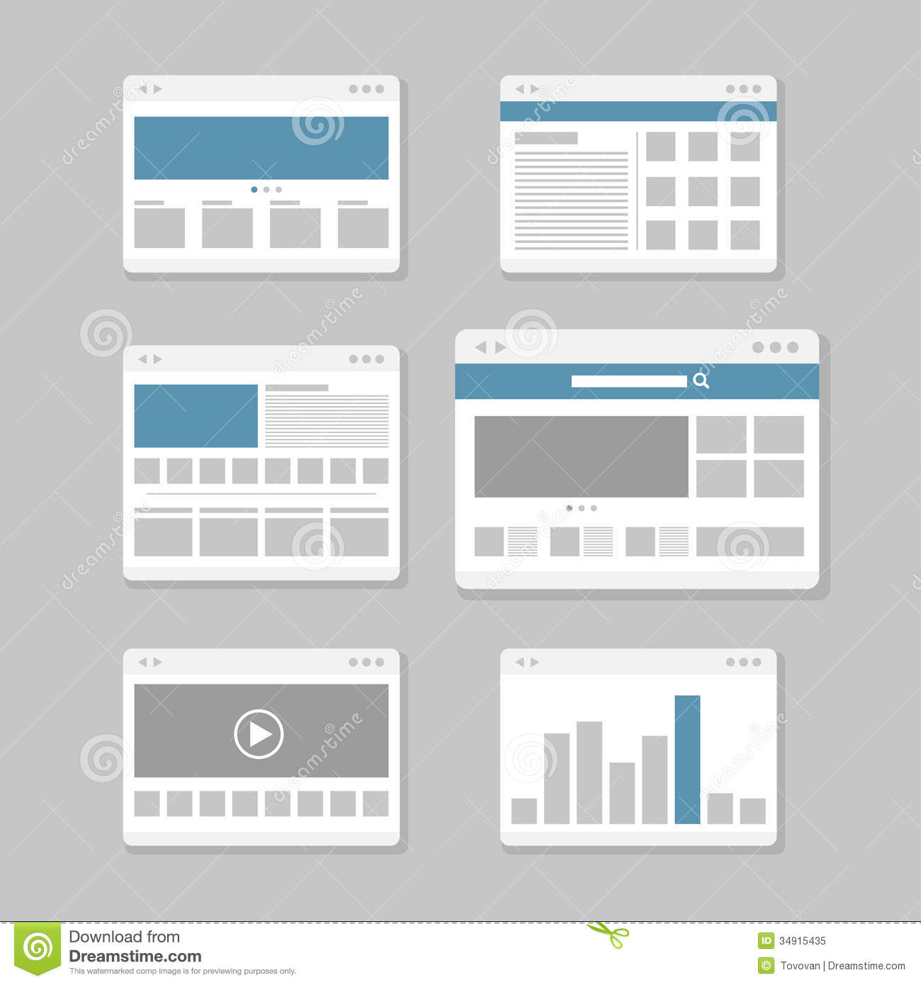 Web site page templates stock vector. Illustration of minimalism ...