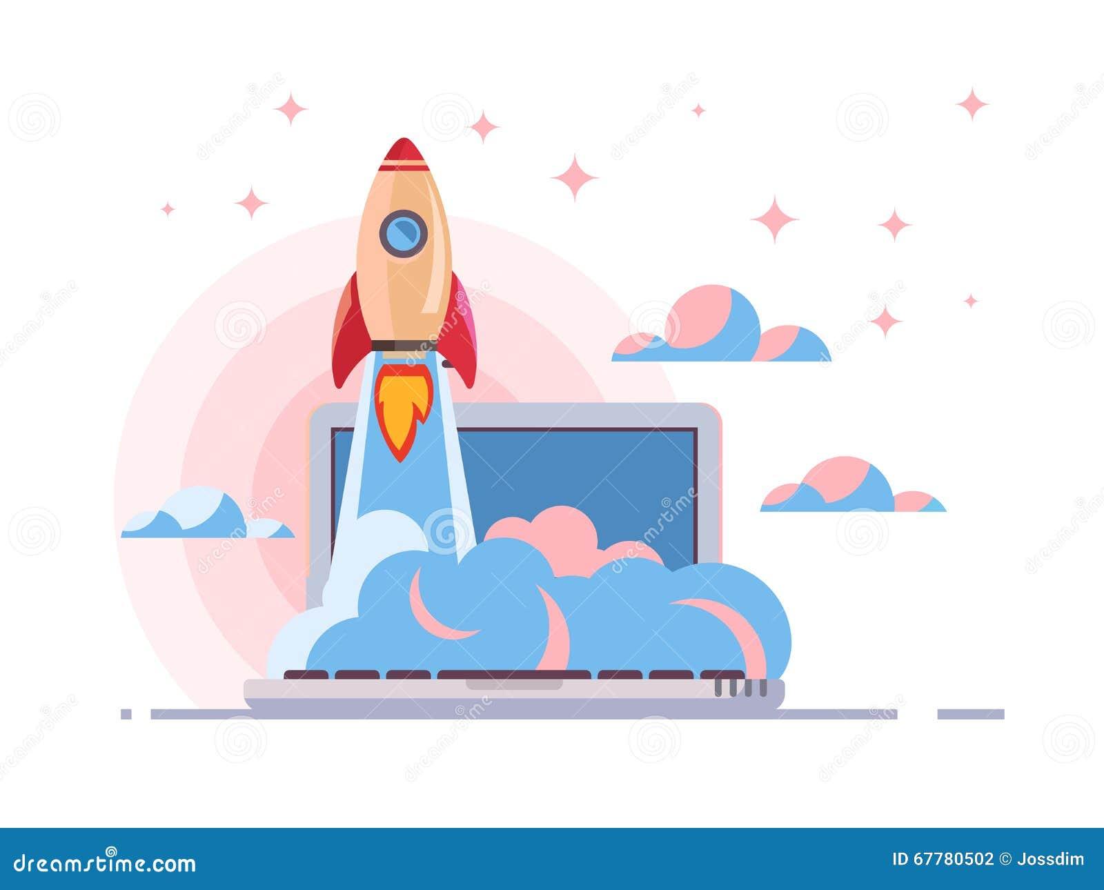 Web start up flat style