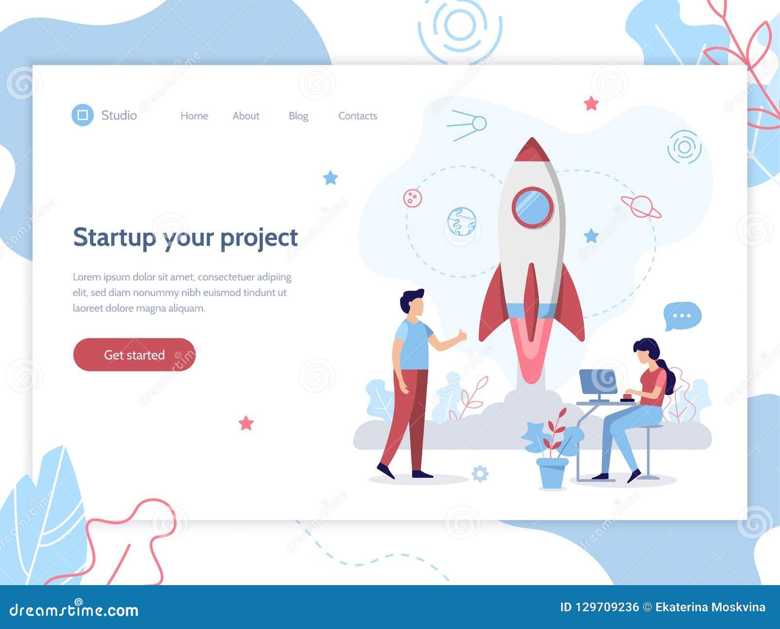 Web startup banner
