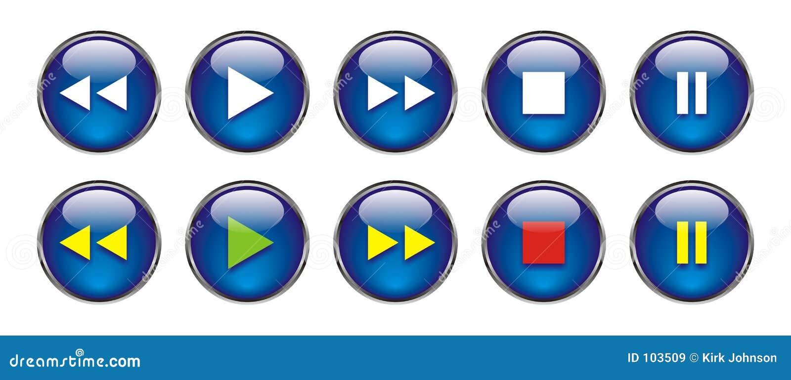 Web-Tasten für DVD/VCR/CD