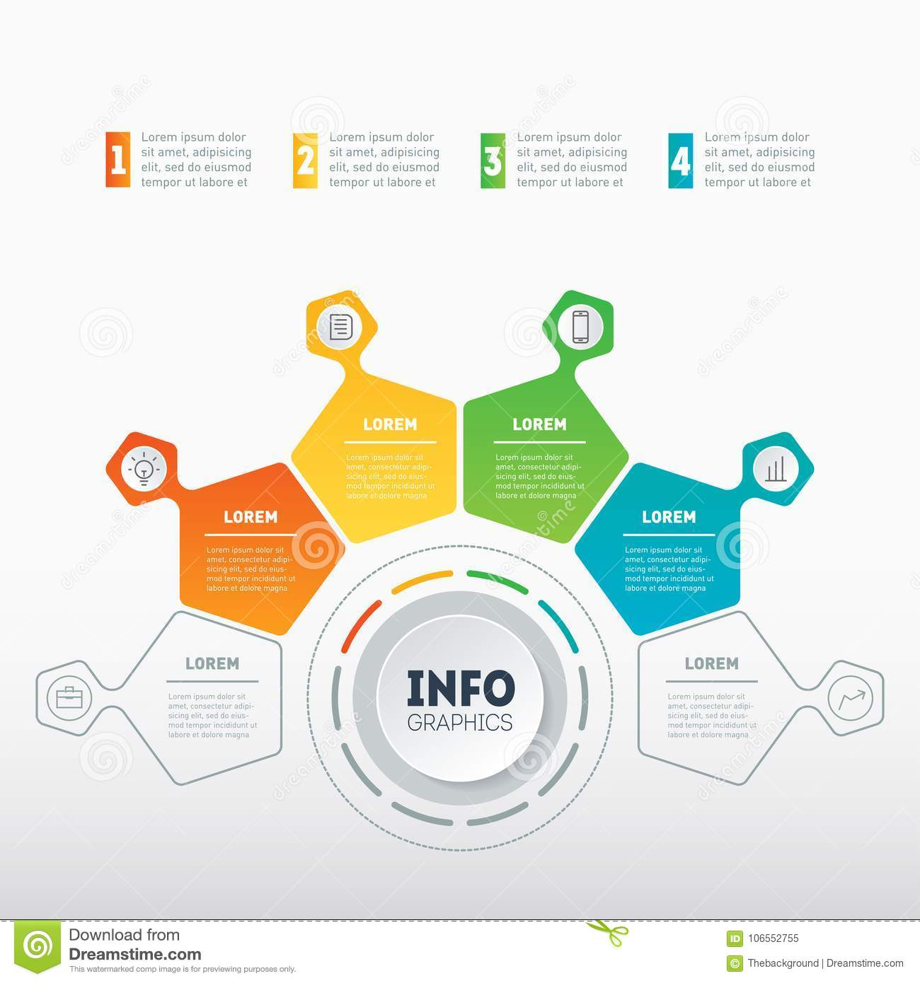 web template of a chart info graphic mindmap or diagram busin