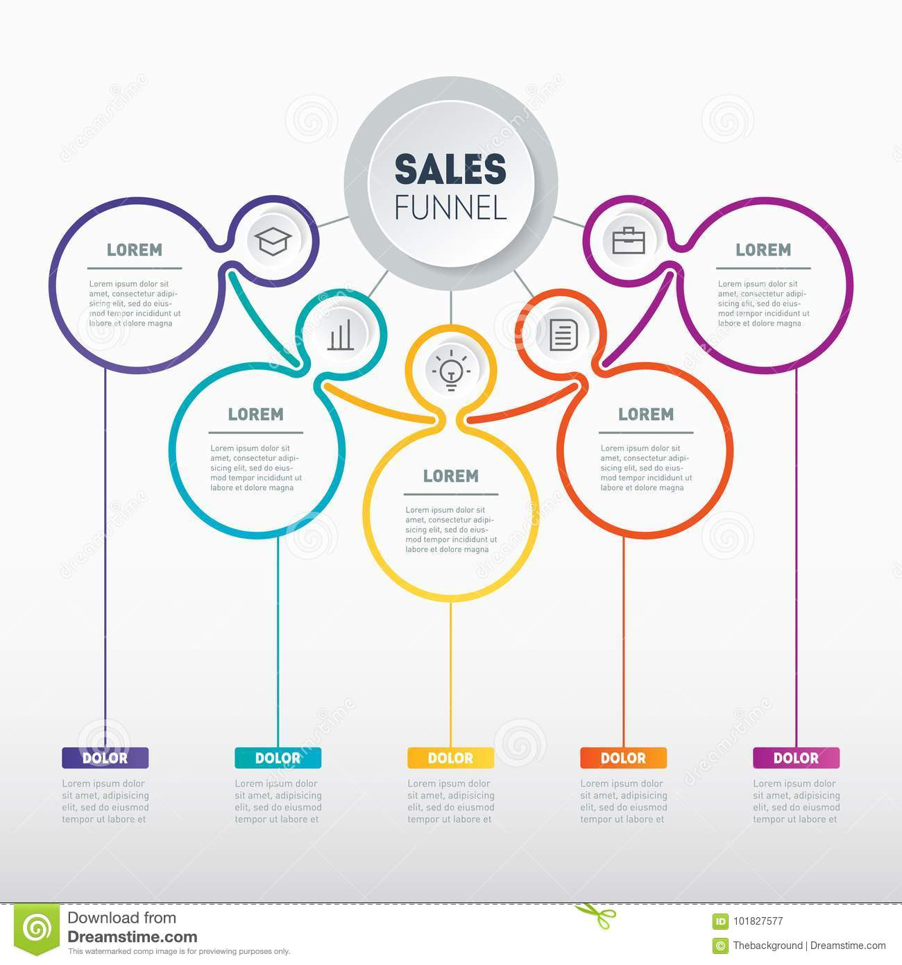 web template of a sales pipeline purchase funnel sales funnel