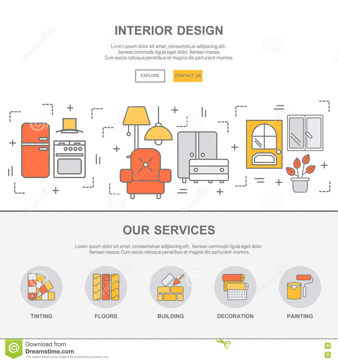 Concept Design Flat Graphic Interior