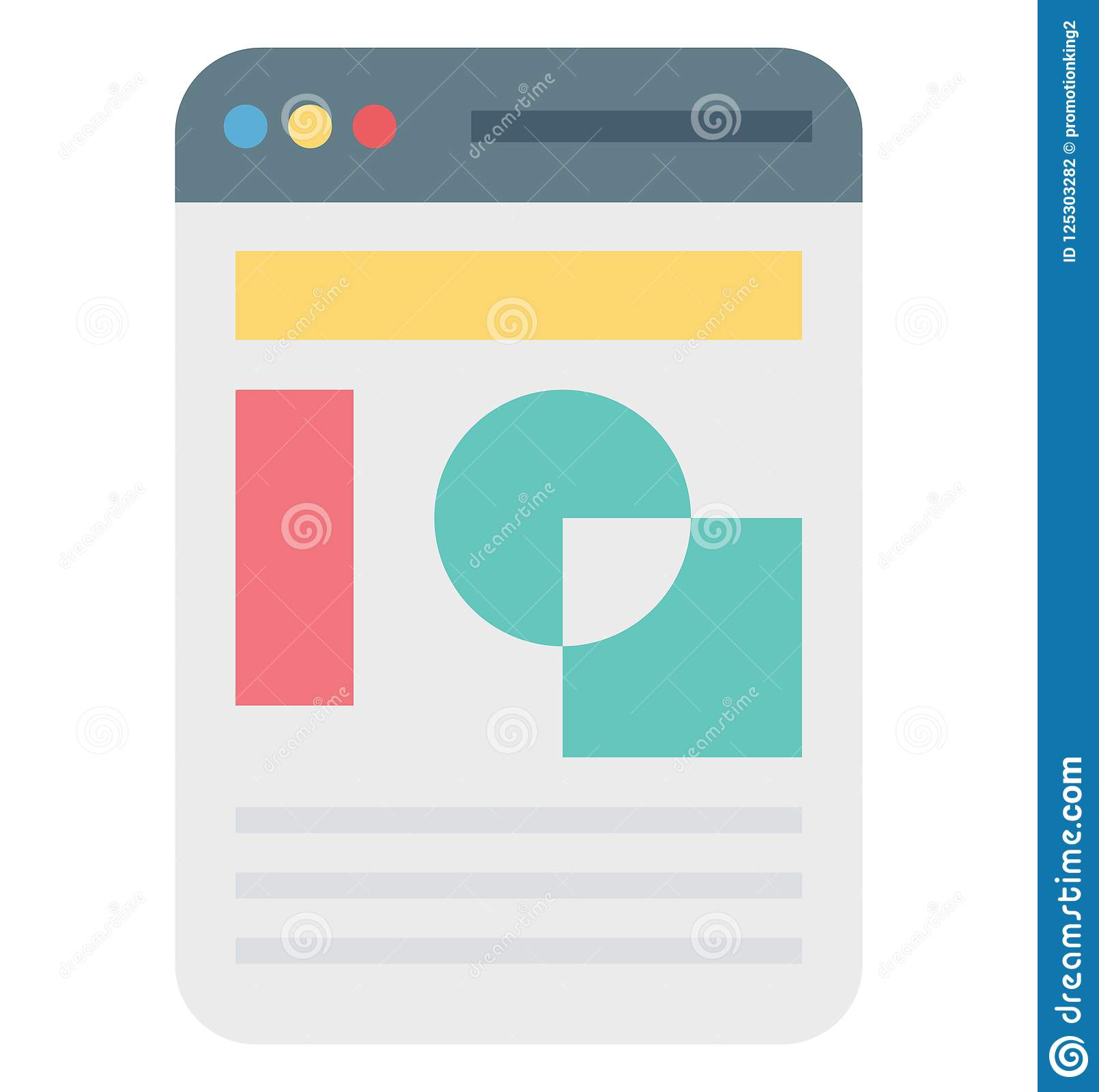 web template, web layout vector icon editable stock vector