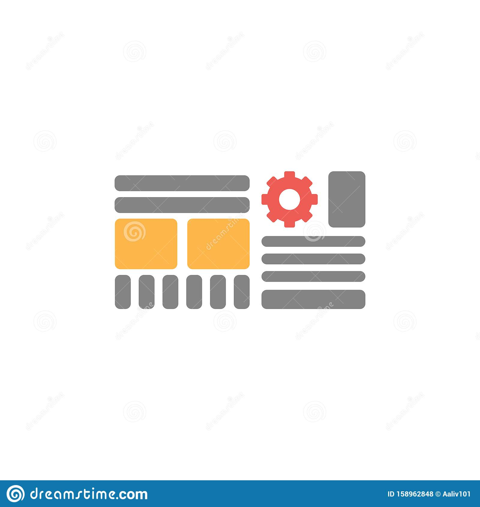 Web grid icon. Wireframe sign
