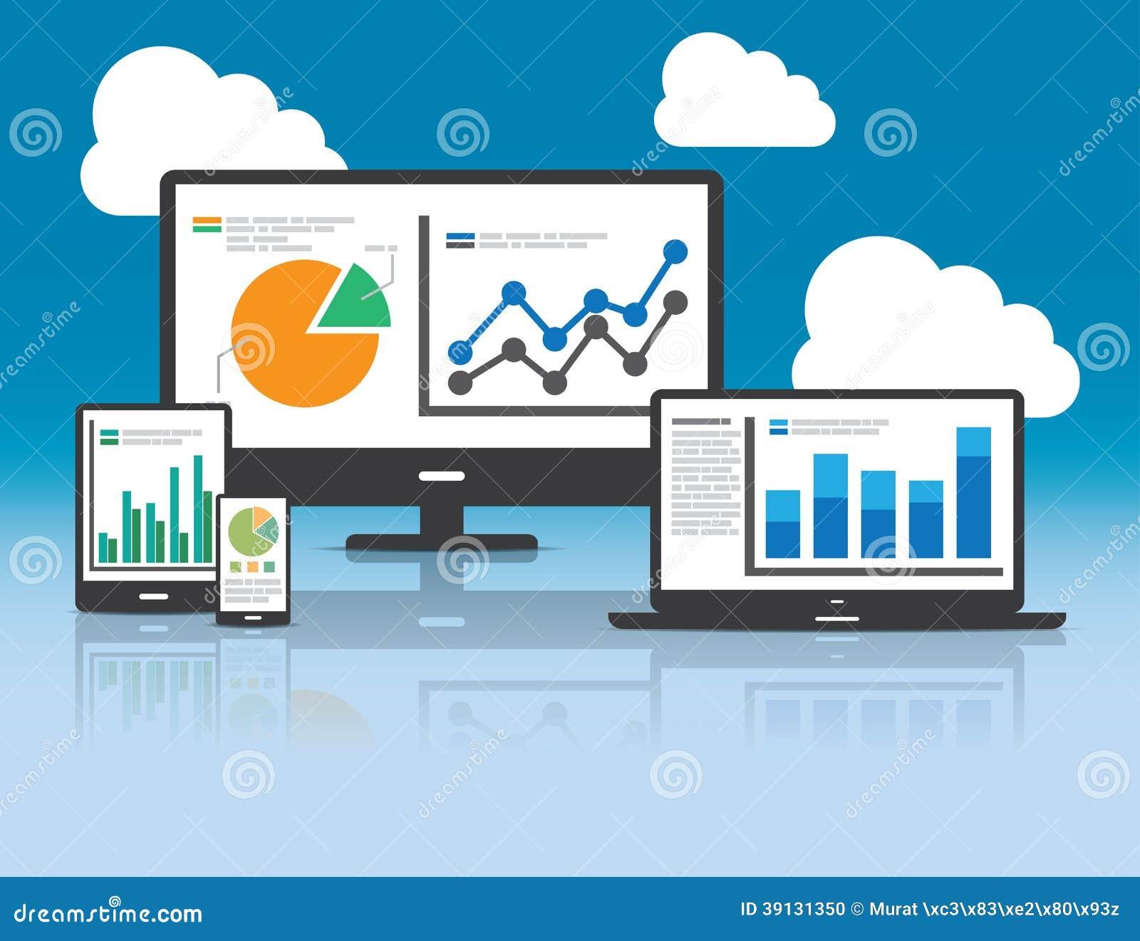 Web y concepto del analytics de SEO - ejemplo