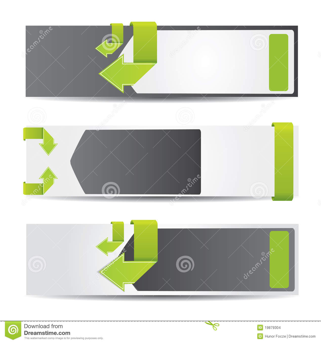 Web2 horizontal banner set with arrows