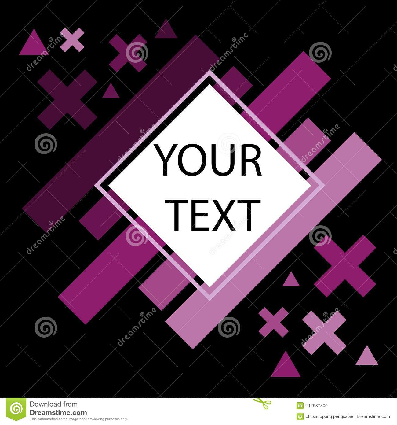 WebAbstract Black Purple Background, Vector Illustration Space for text