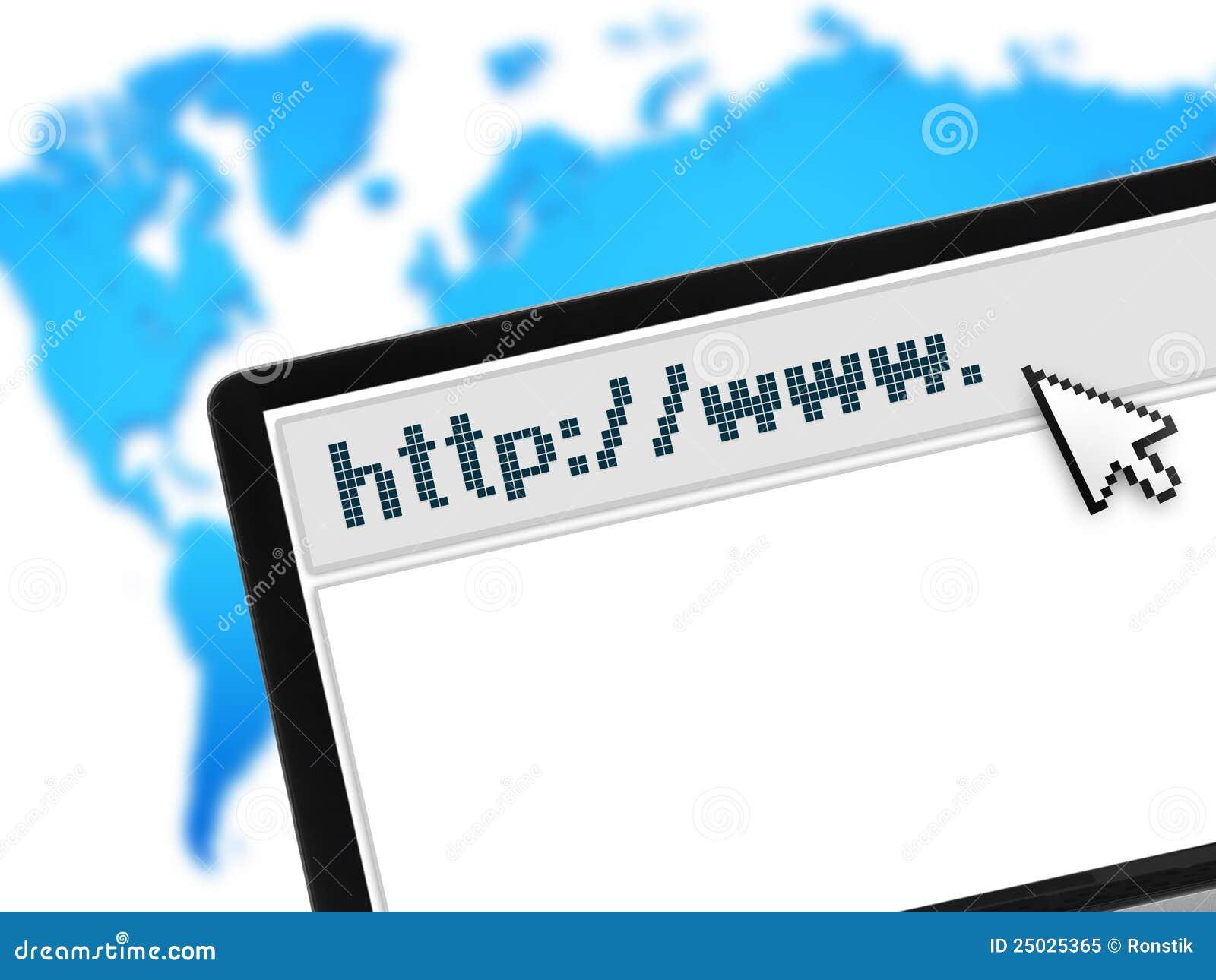 Webbläsarebärbar datoröversikt över rengöringsdukvärlden