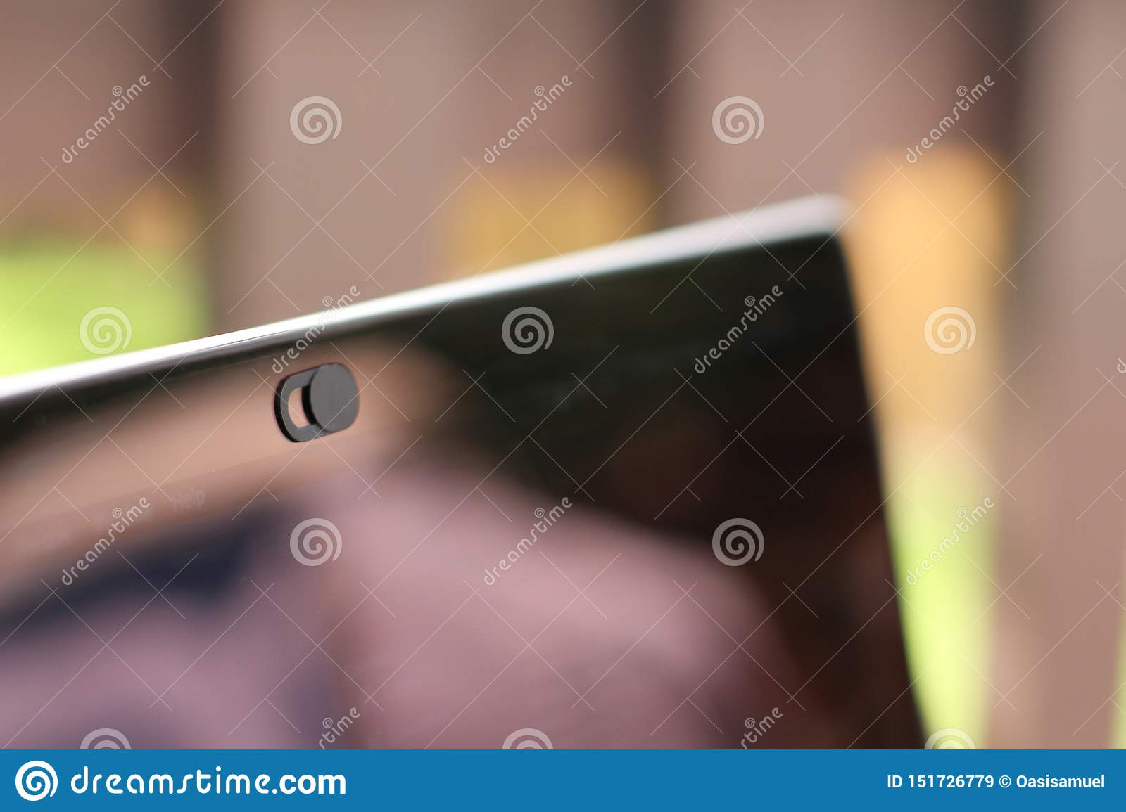 Webcam Cover For Laptop Table Or Phone Stock Image Image Of