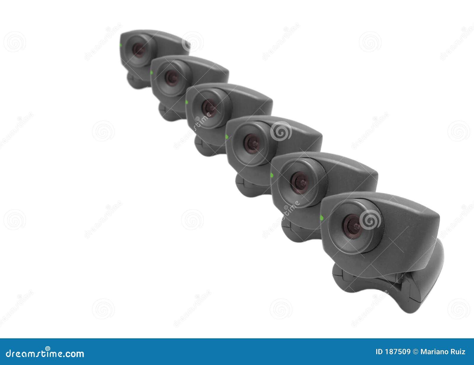 Webcams dans une ligne