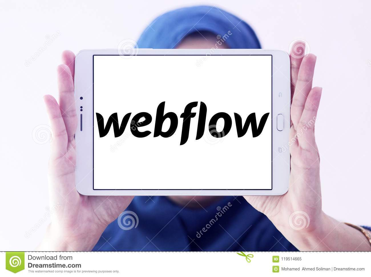 Webflow Software Company Logo Editorial Image - Image of