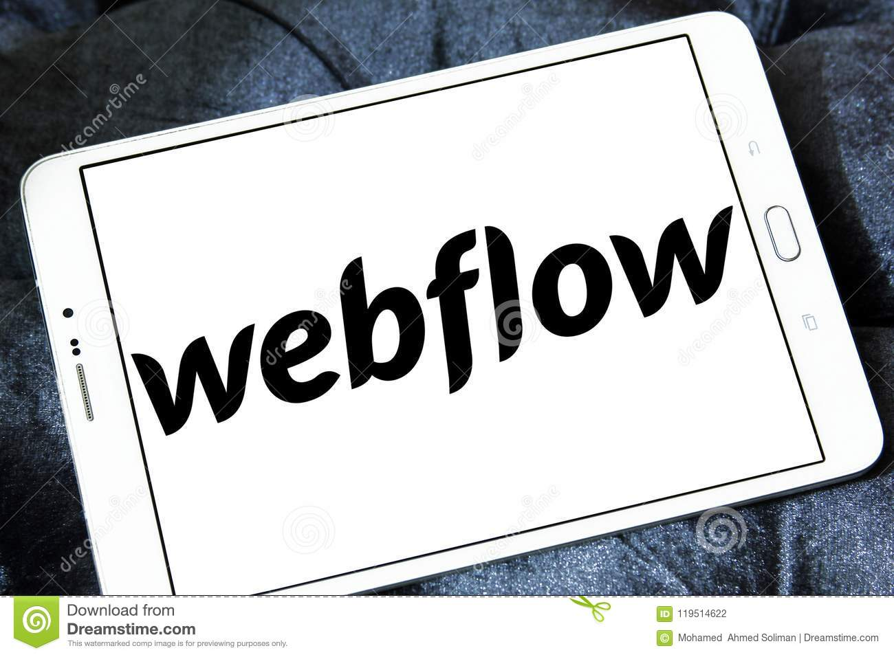 Webflow Software Company Logo Editorial Photography - Image