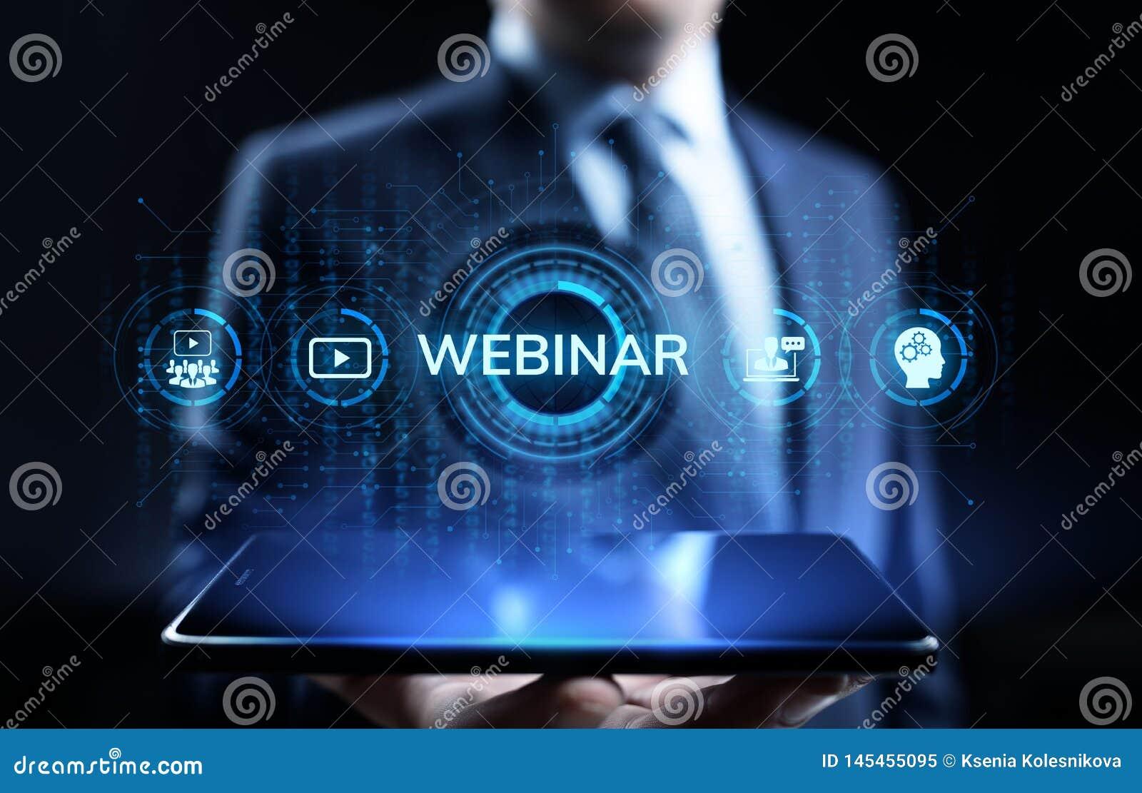 Webinar电子教学网上研讨会教育产业概念