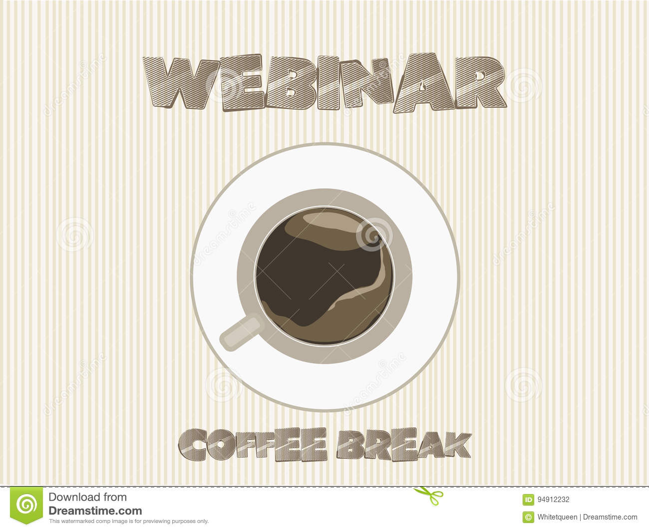 webinar coffee break vector stock vector illustration of books image 94912232. Black Bedroom Furniture Sets. Home Design Ideas