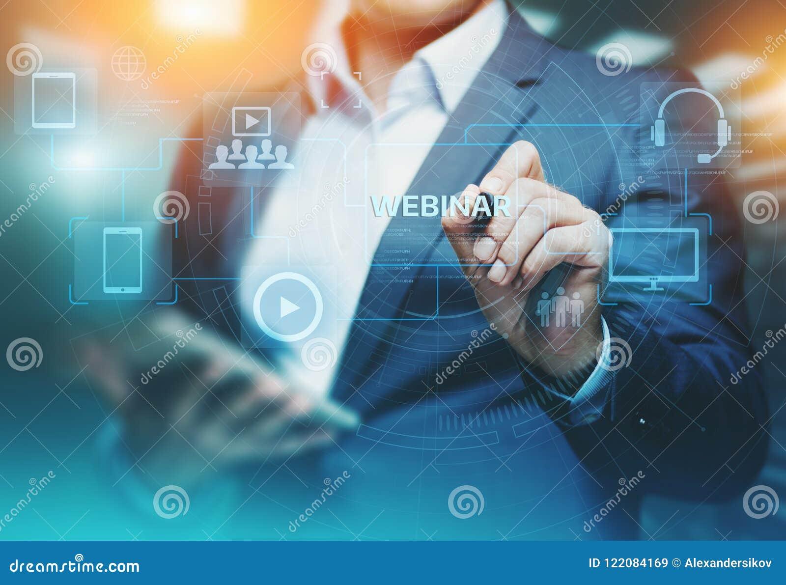 Webinar nauczania online technologii Stażowy Biznesowy Internetowy pojęcie