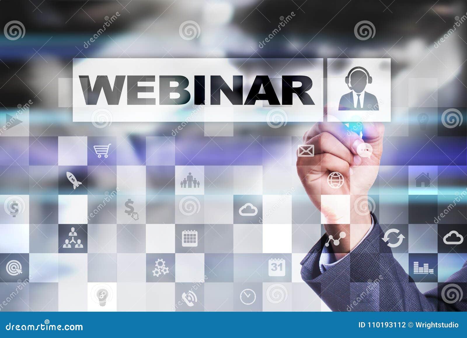 Webinar Nauczanie online, online edukaci pojęcie rozwoju ogłoszenie towarzyskie parawanowy wirtualny