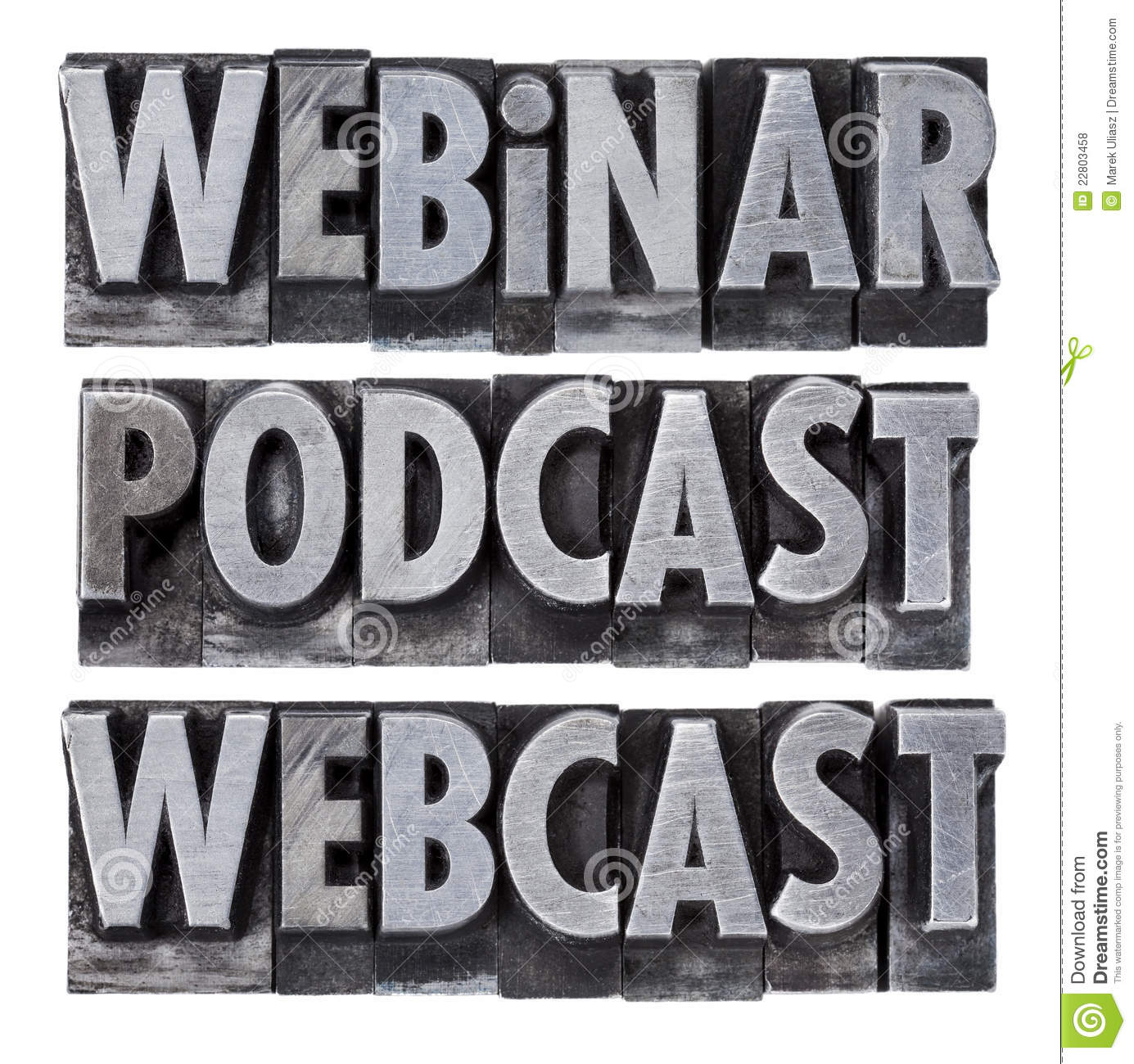 Webinar, podcast and webcast