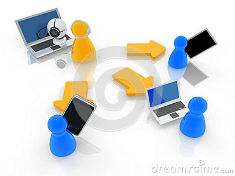 Virtual Classroom Design Free ~ Webinar or webcast concept royalty free stock photography
