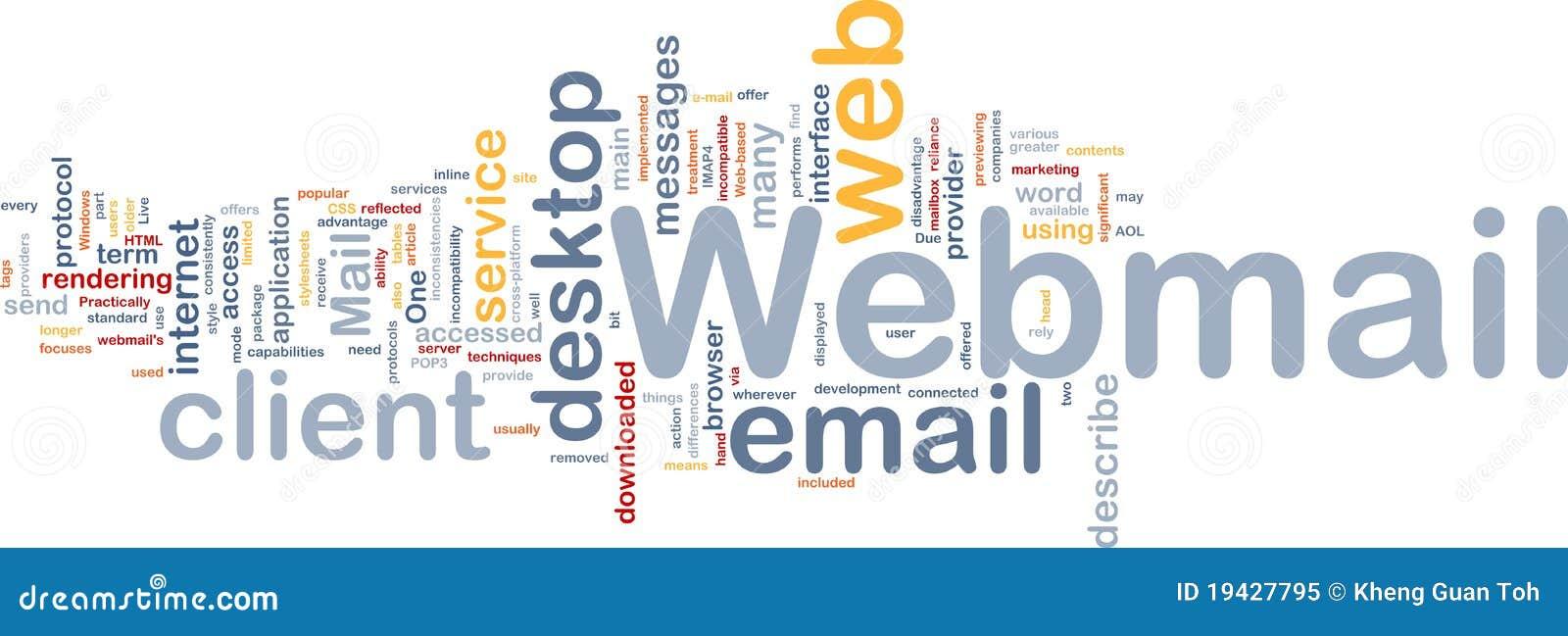 Webmail принципиальной схемы предпосылки