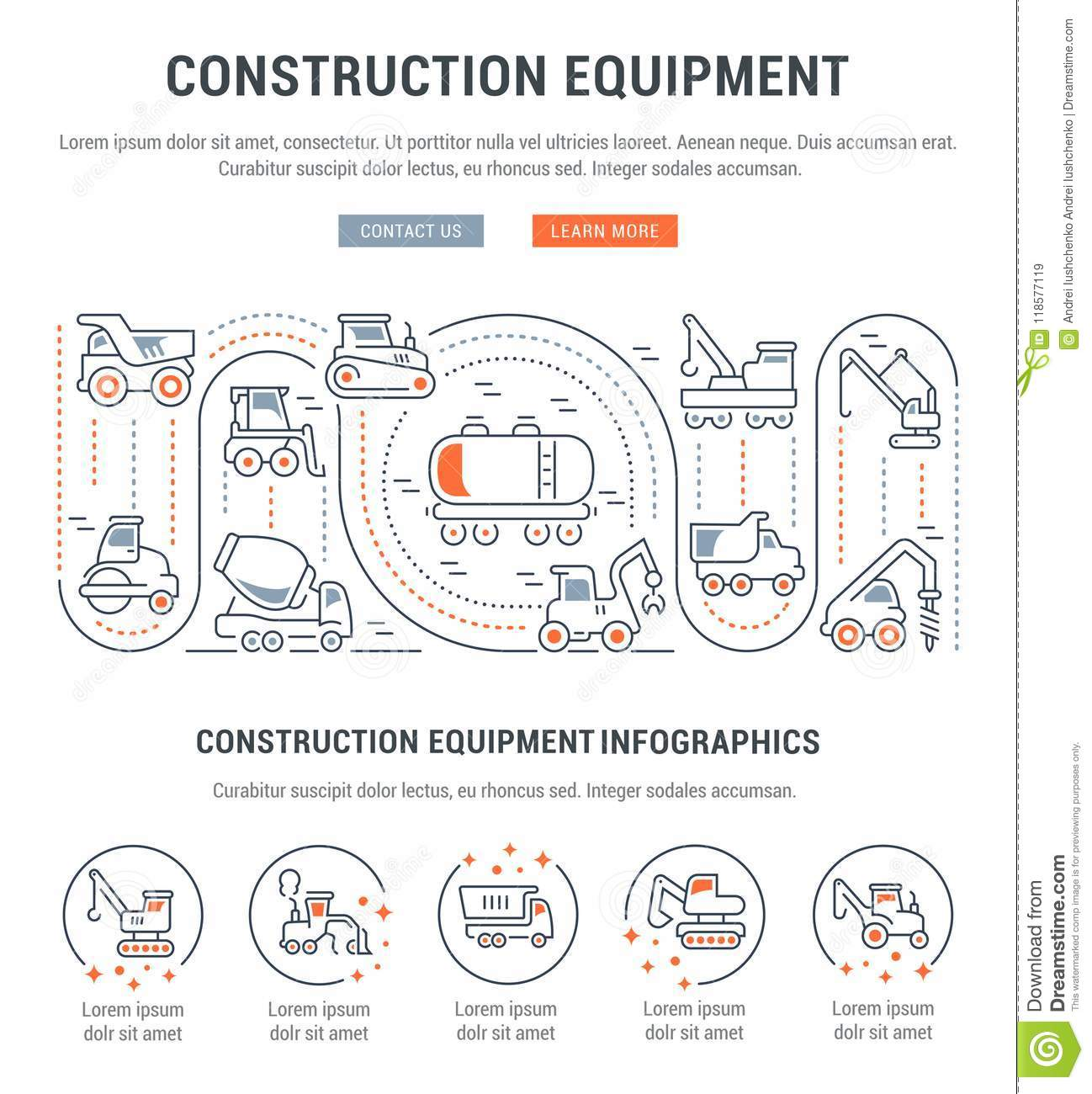 Construction Equipment Banners Educational Toy Banners