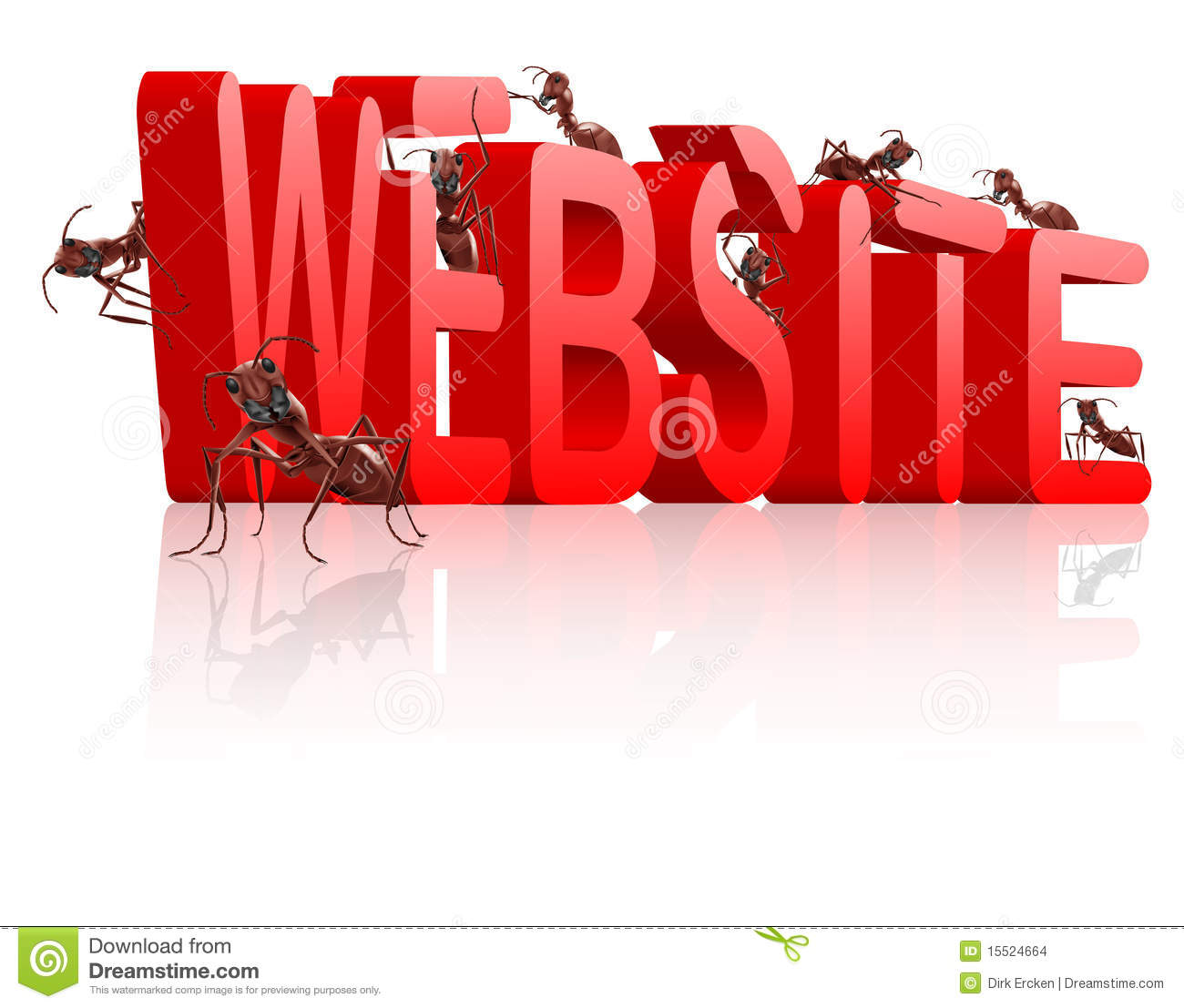 Website building under construction www web site stock 3d site