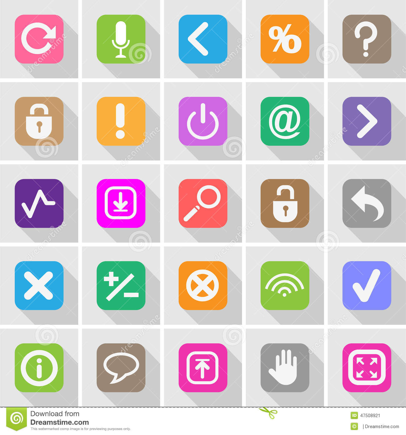 Website Buttons And Symbols Set Stock Vector Illustration Of