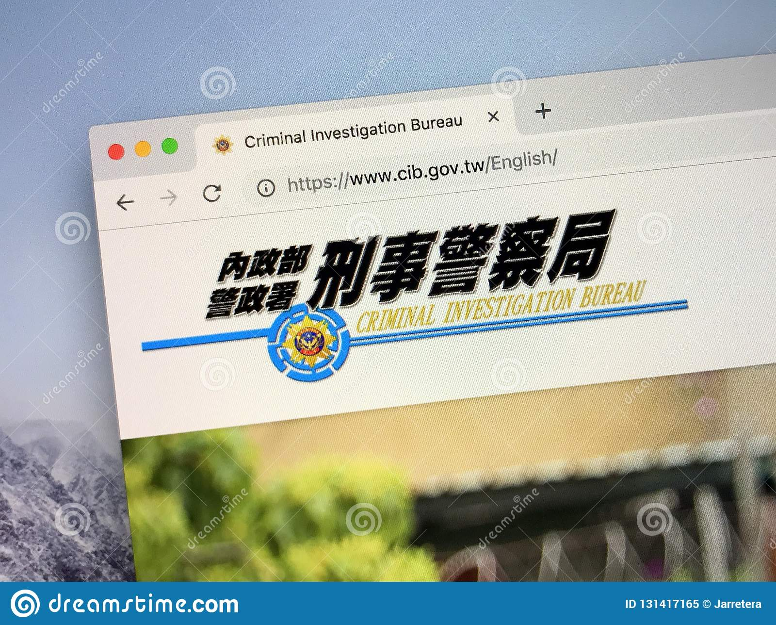 Website of the criminal investigation bureau or cib of taiwan