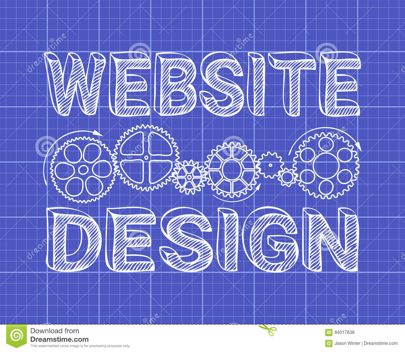 Website design blueprint stock vector illustration of internet download comp malvernweather Choice Image