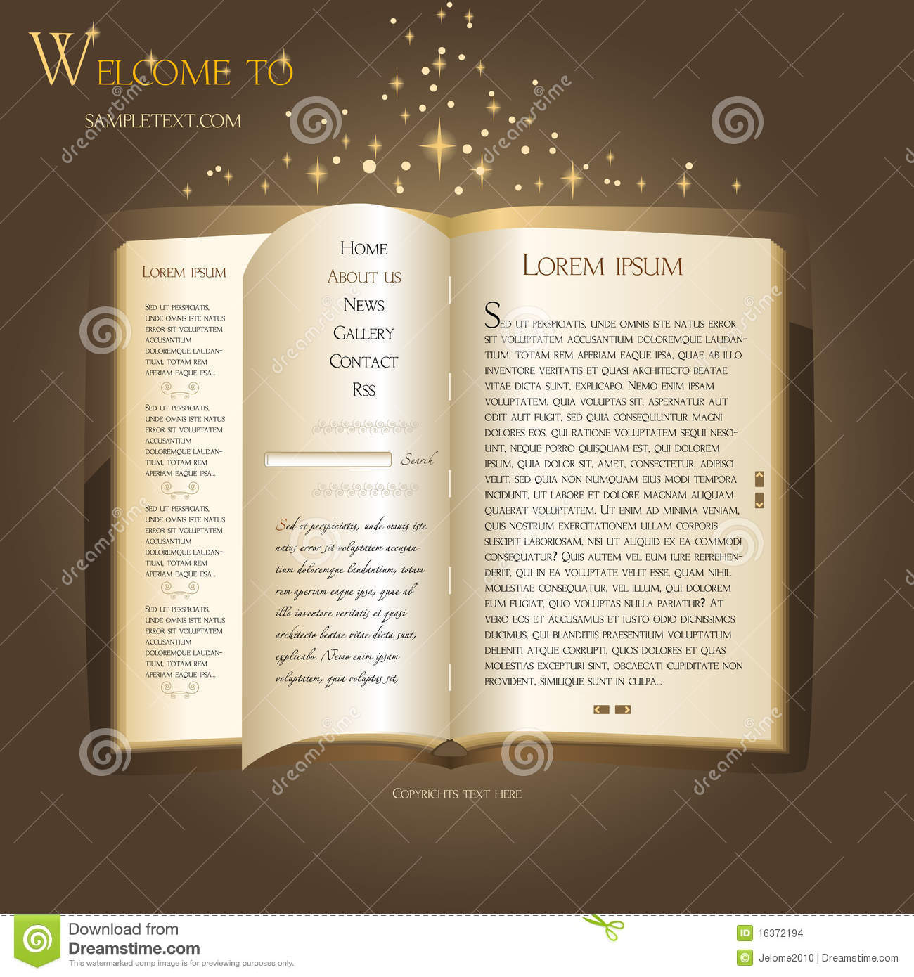 Fairytale Book Like A Website Template
