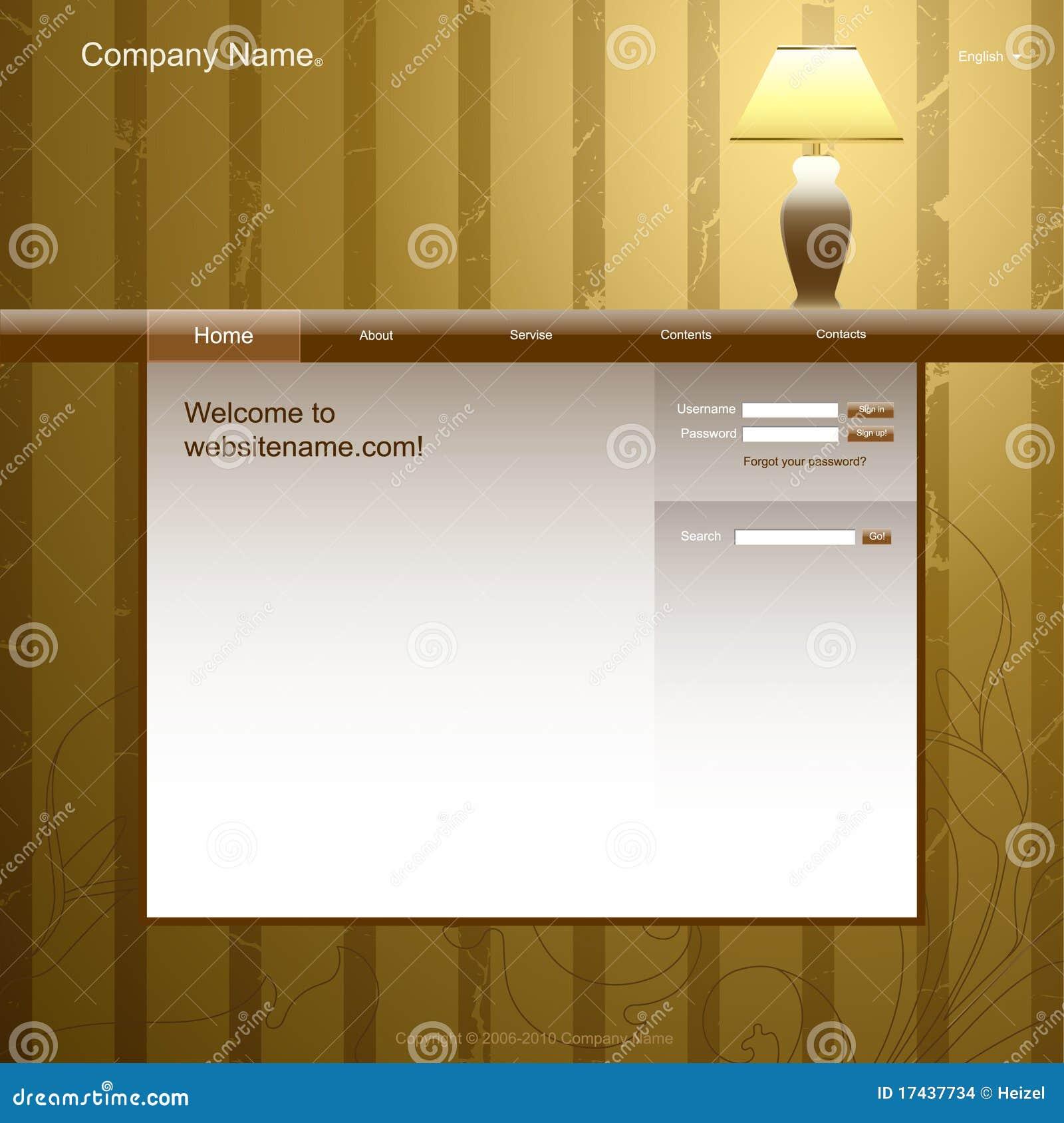 Website Design Template Stock Images Image 17437734