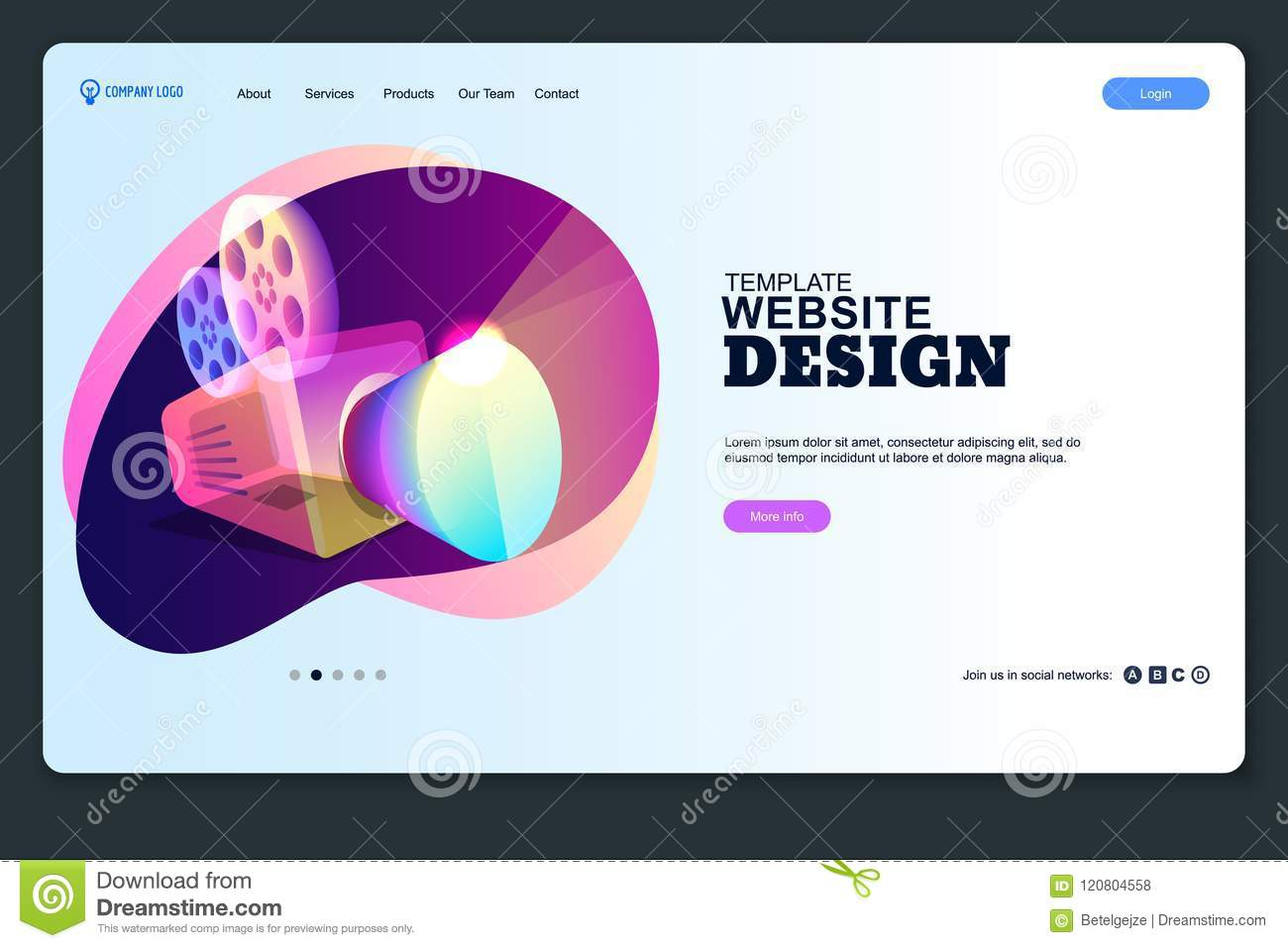 website page layout template