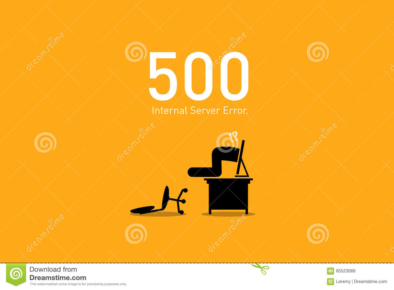 Website Error 500  Internal Server Error  Stock Vector
