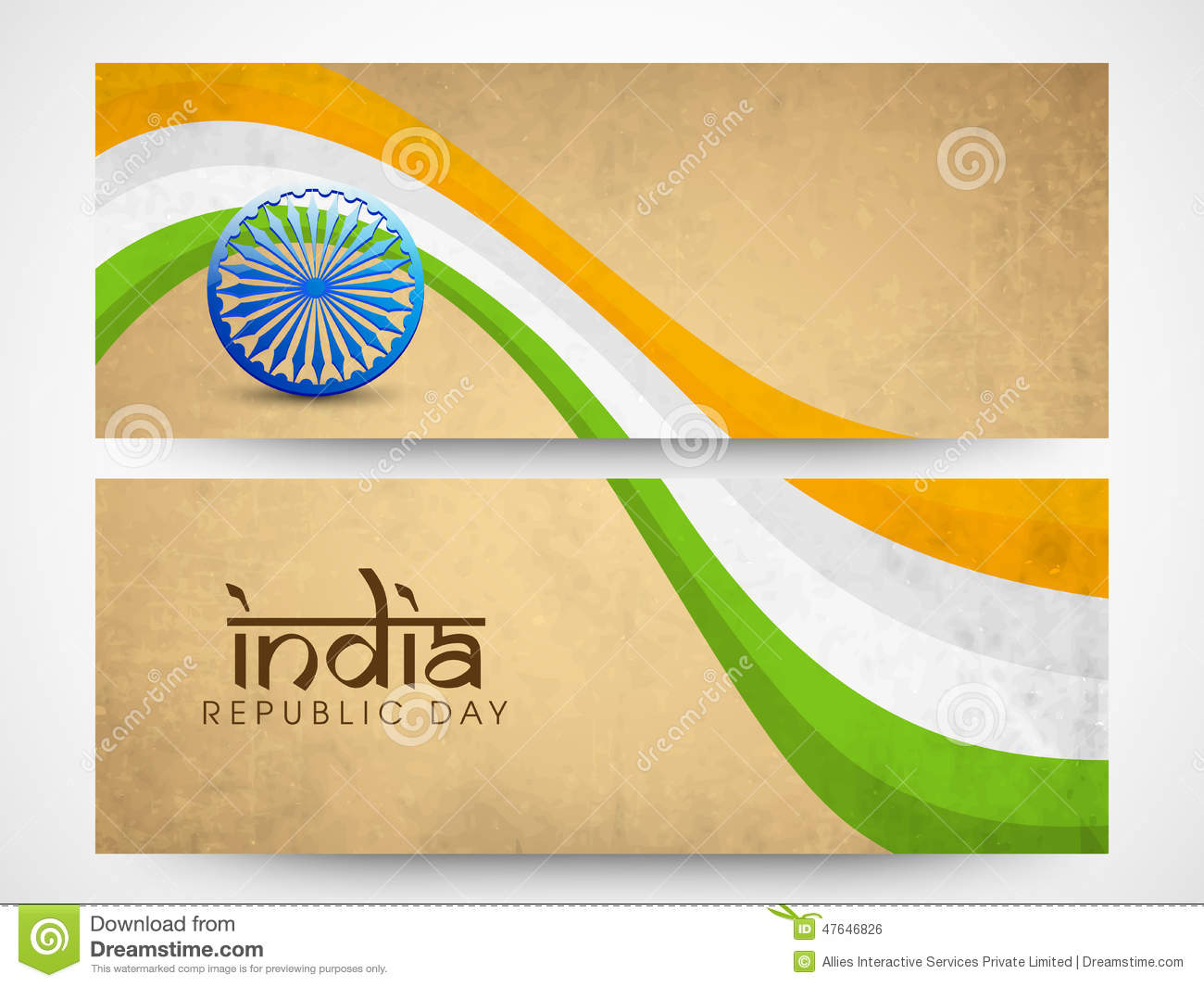 Colors website ashoka - Website Header Or Banner Of Sale With National Flag Colors Royalty Free Stock Image