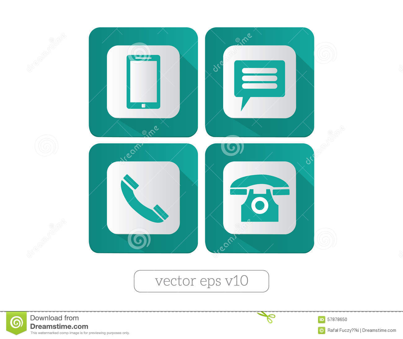 Website And Internet Contact Icons And Symbols Stock Vector