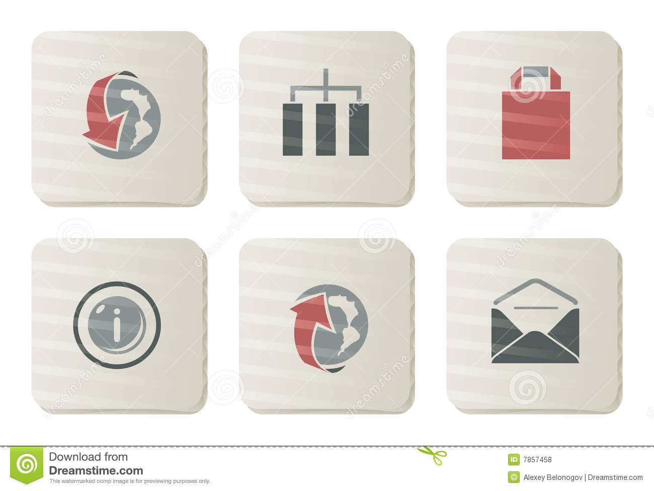 Website and Internet icons | Cardboard series