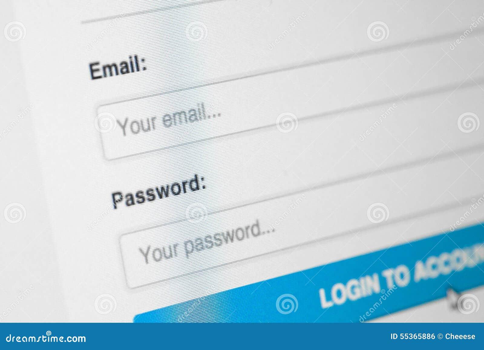 Login website screen stock images image 27209274 - Blue Login Pale Screen Website