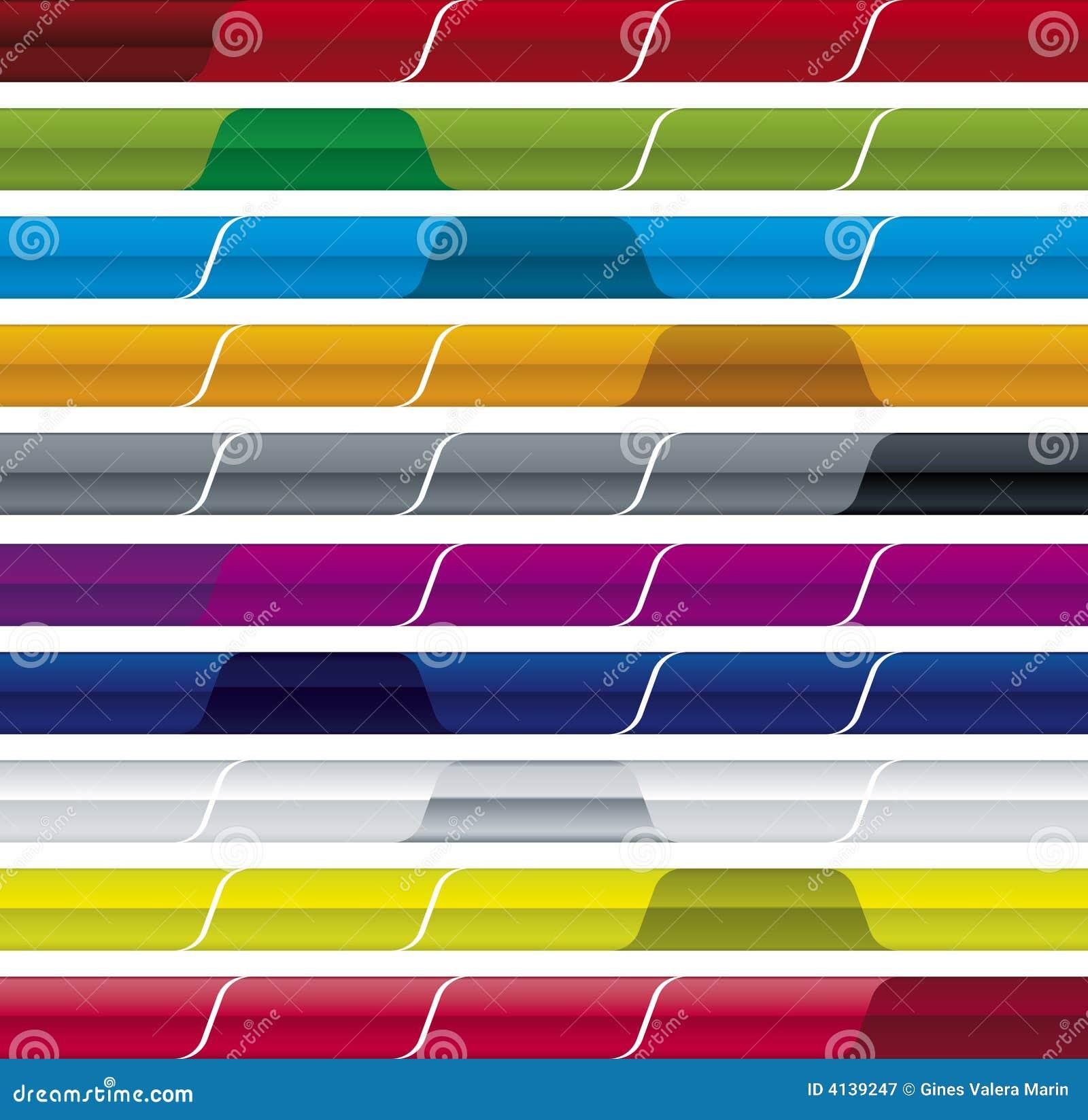 Website menu bar (vector)