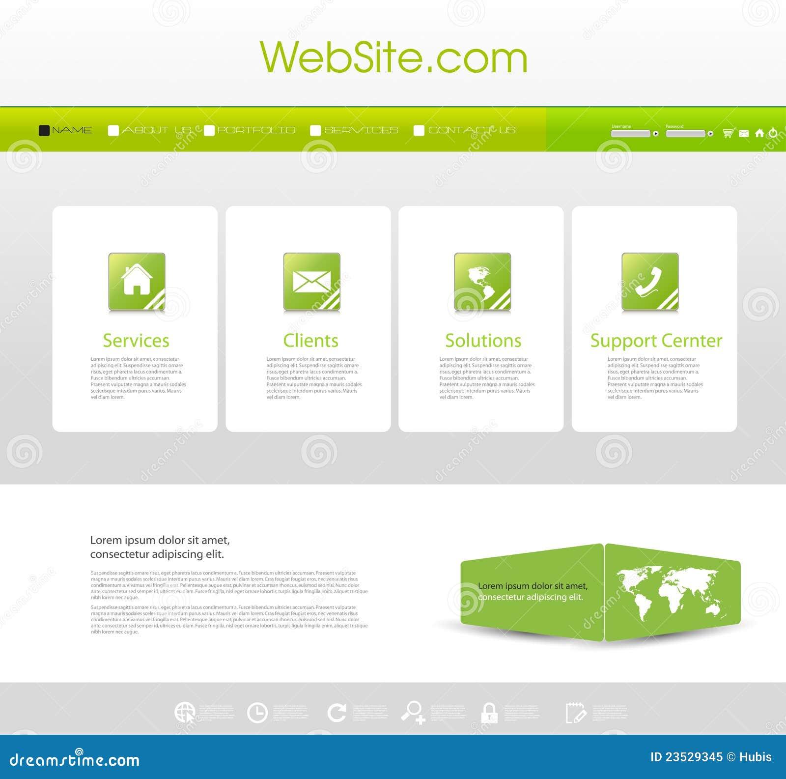 website menu template stock vector illustration of line 23529345. Black Bedroom Furniture Sets. Home Design Ideas
