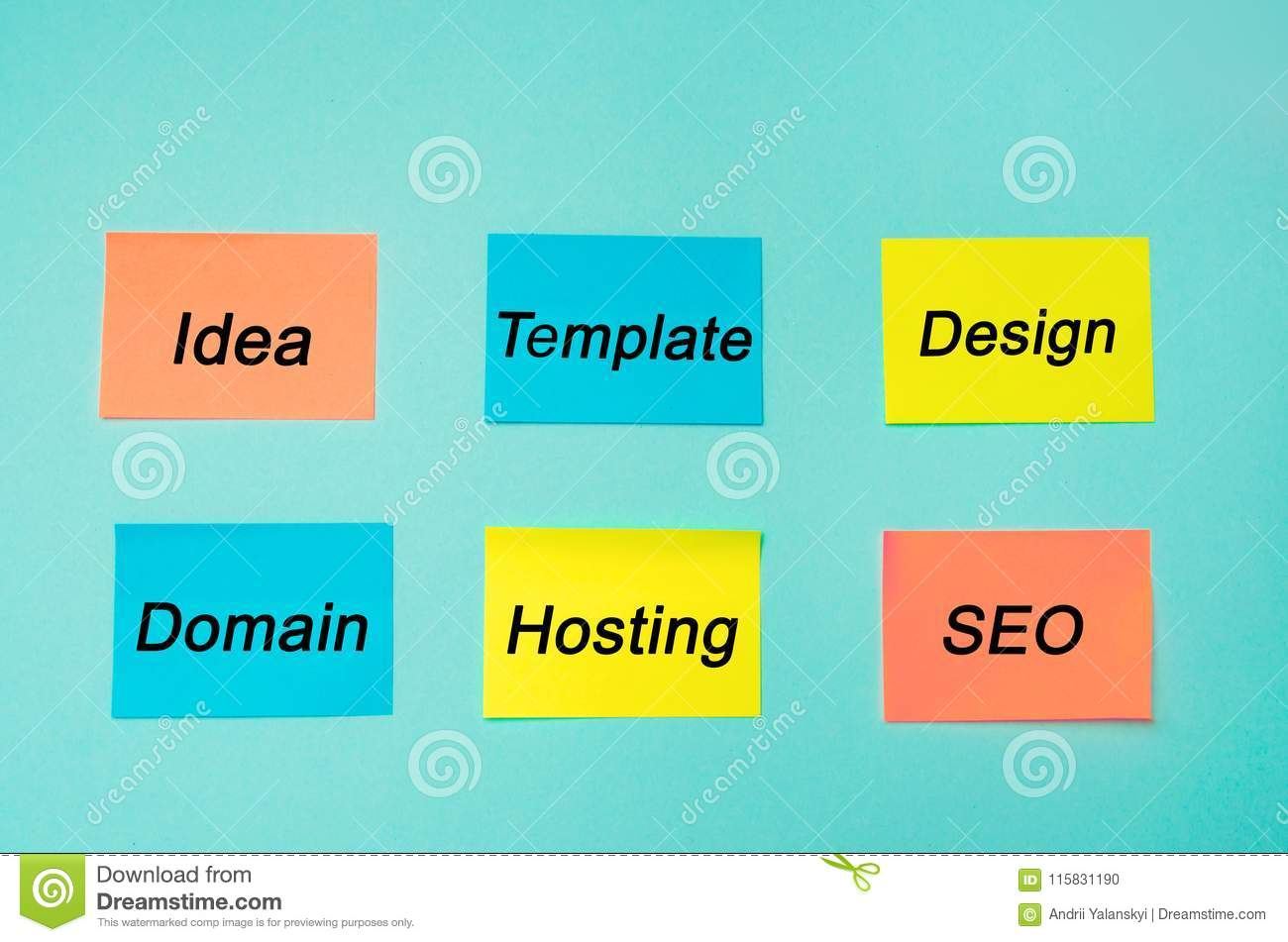 Website Plan And Project Seo Process Information Flow Chart Design Scheme Business Concept Profession Programmer Stickers In Stock Photo Image Of Management Content 115831190