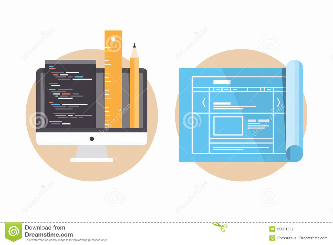 Website Programming And Development Icons Royalty Free