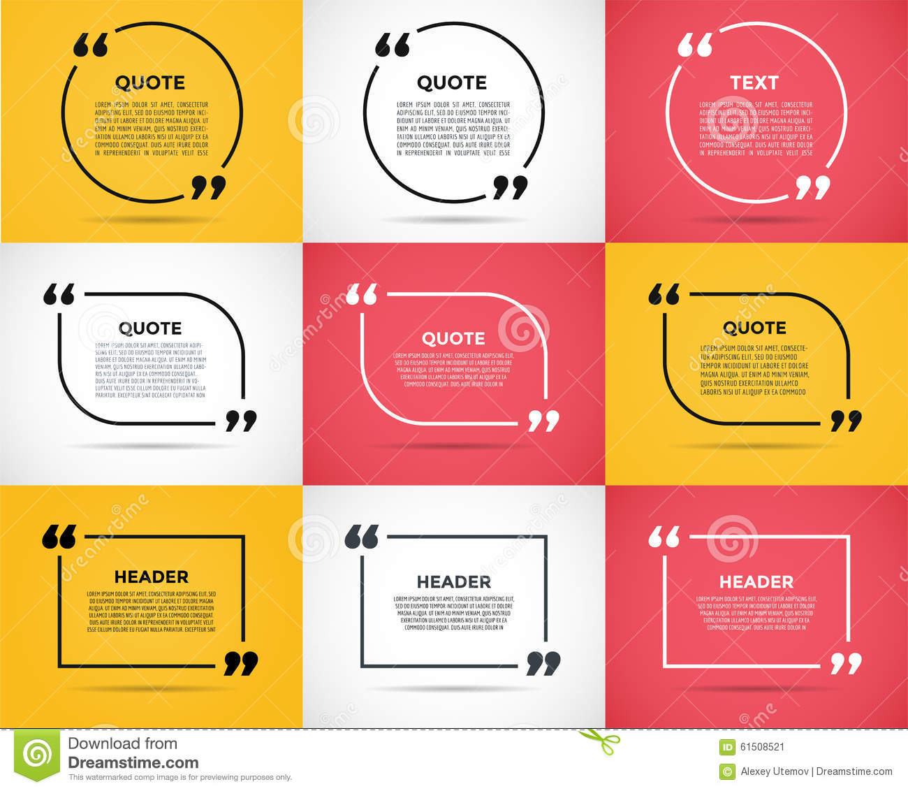 How To Quote A Website Website Review Quote Blank Template Illustration 61508521  Megapixl