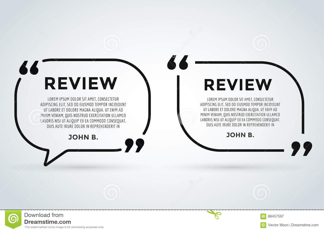 Website review quote citation blank template vector icon comment website review quote citation blank template vector icon comment customer circle paper information text chat citing ccuart Choice Image