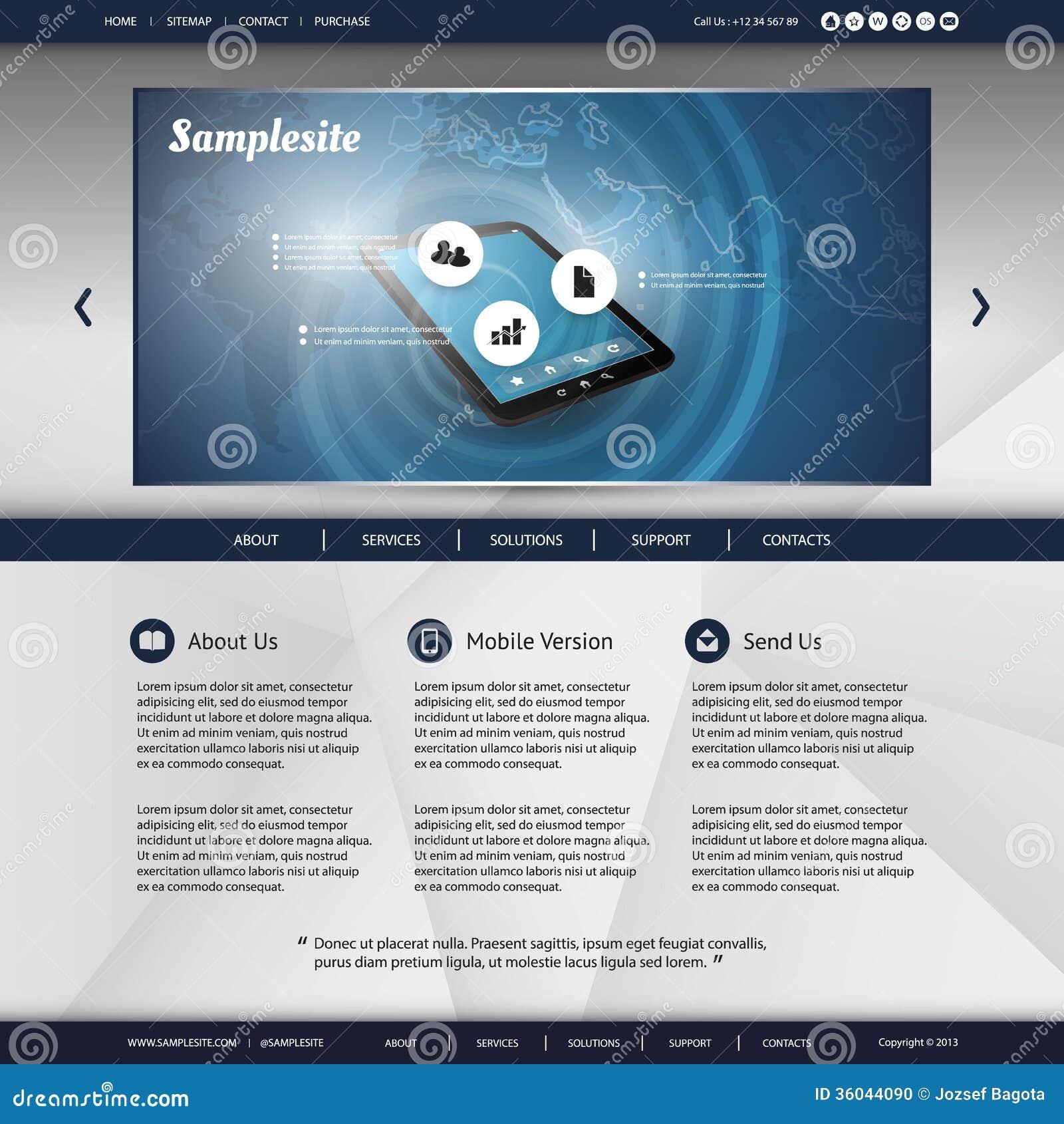 Website-Schablone