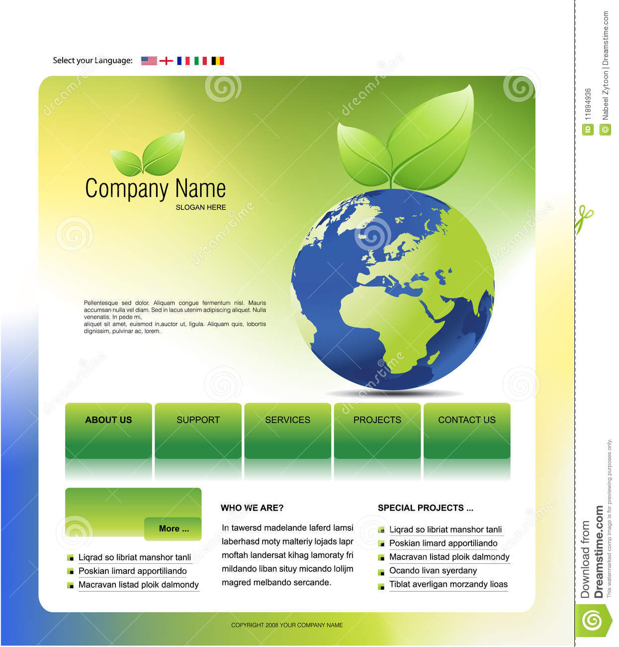 website template royalty free stock image image 11894936