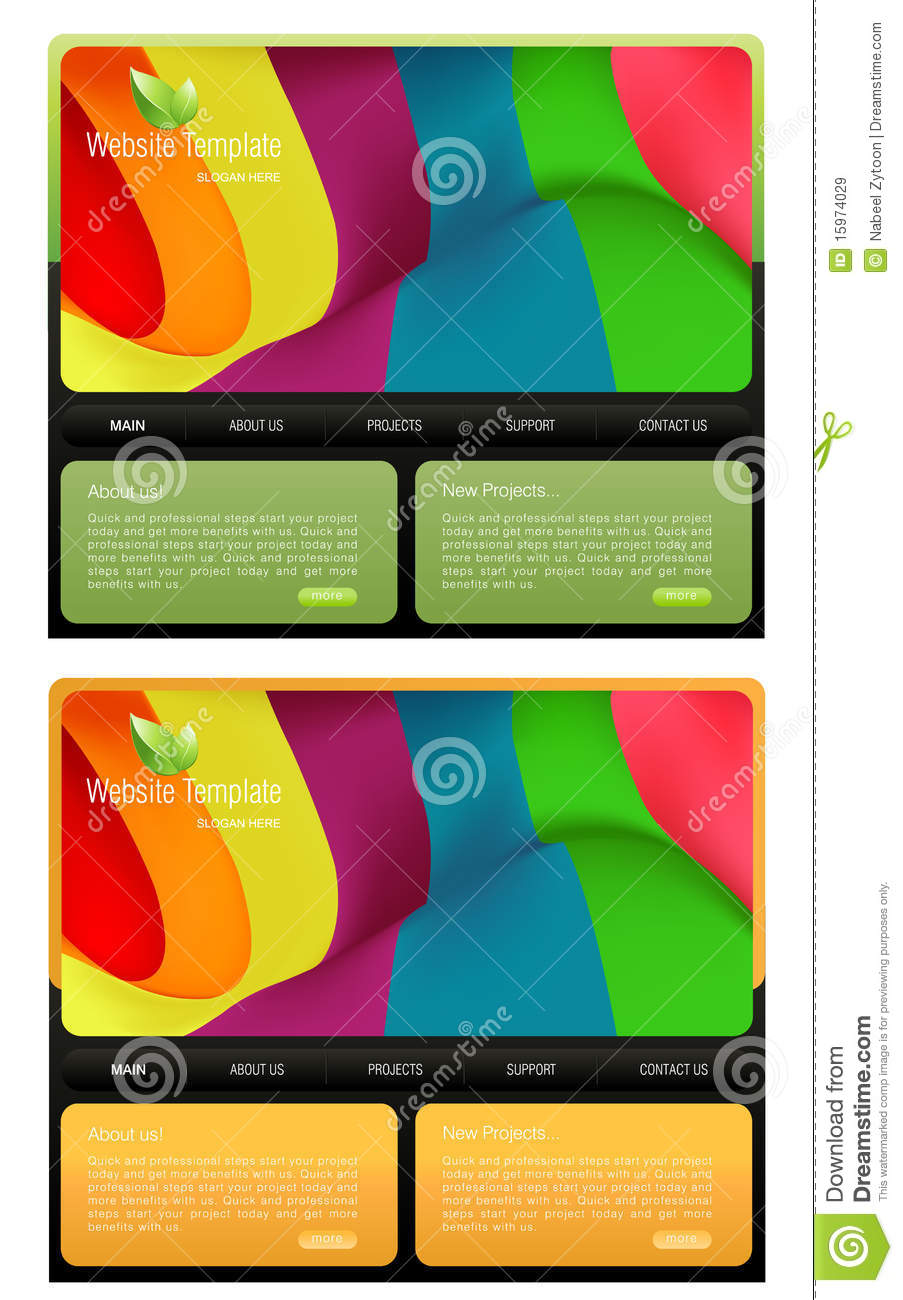 website template royalty free stock images image 15974029