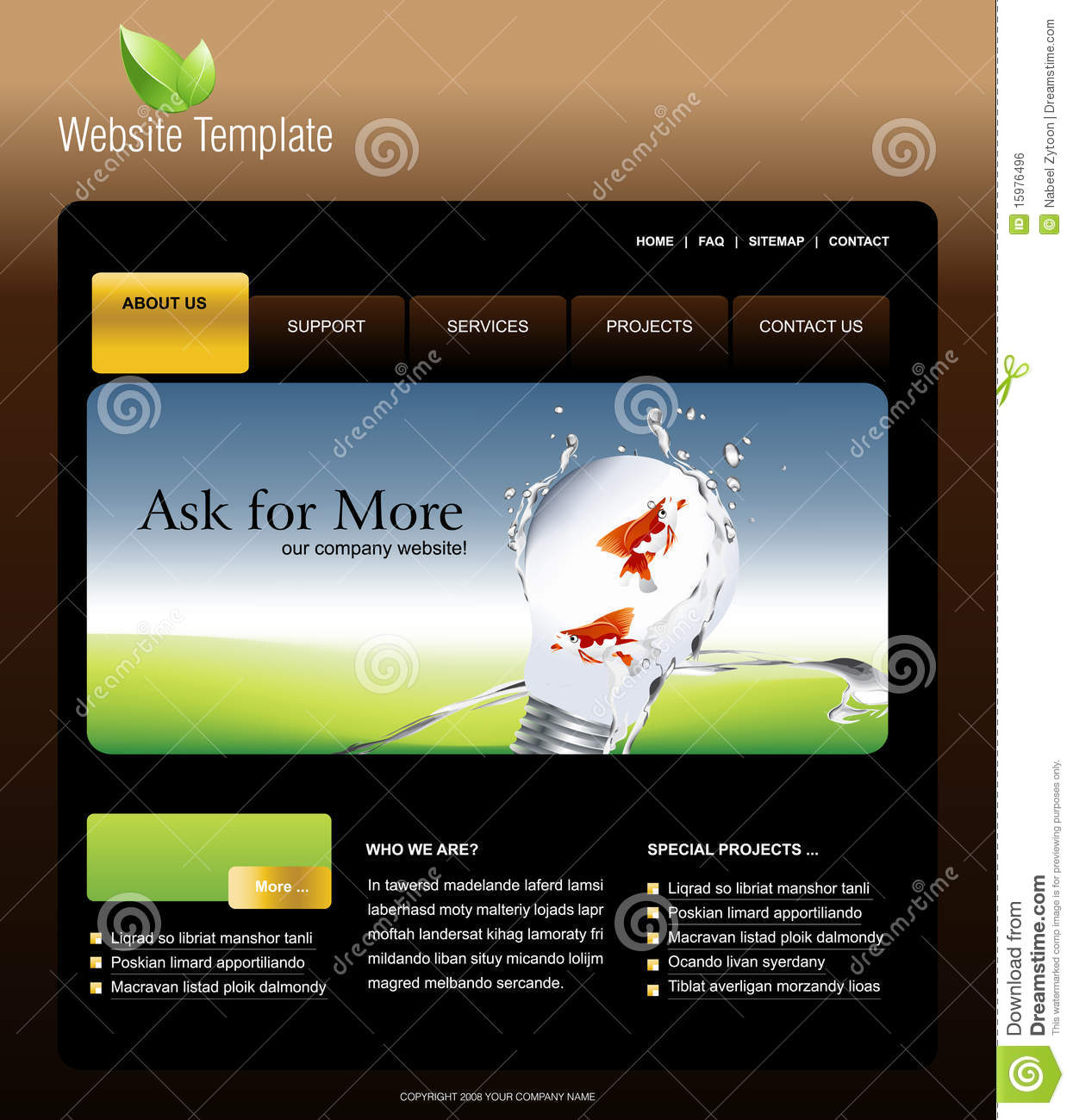 website template royalty free stock image image 15976496