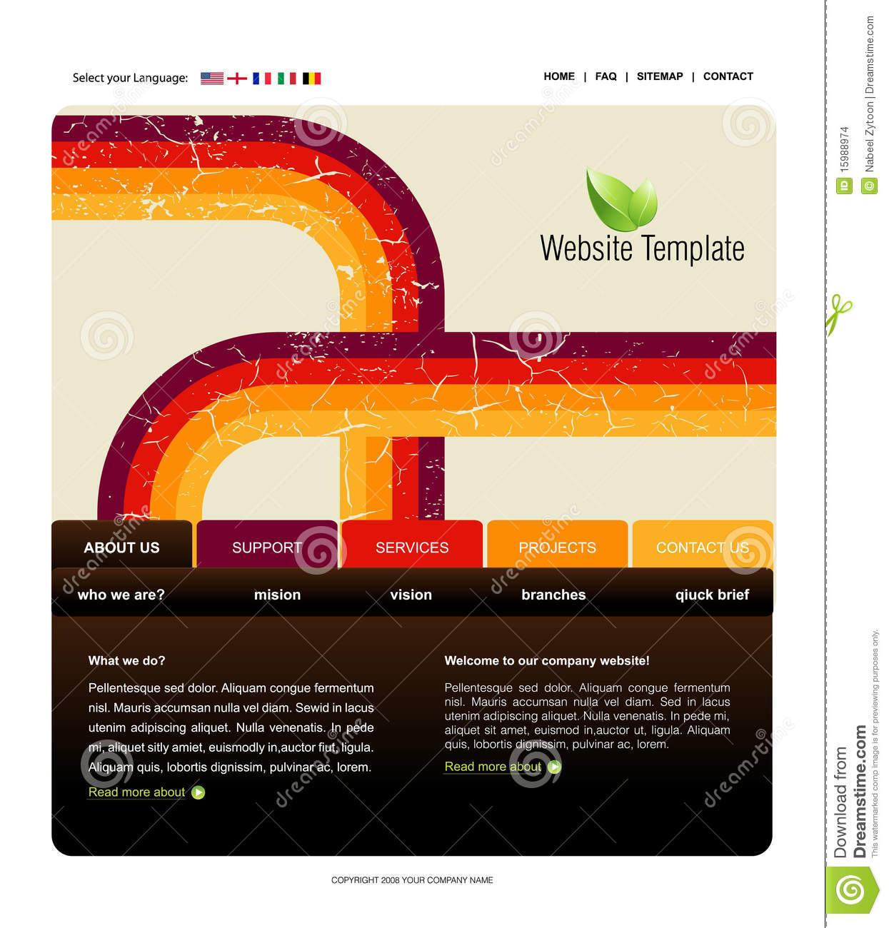 website template stock images image 15988974