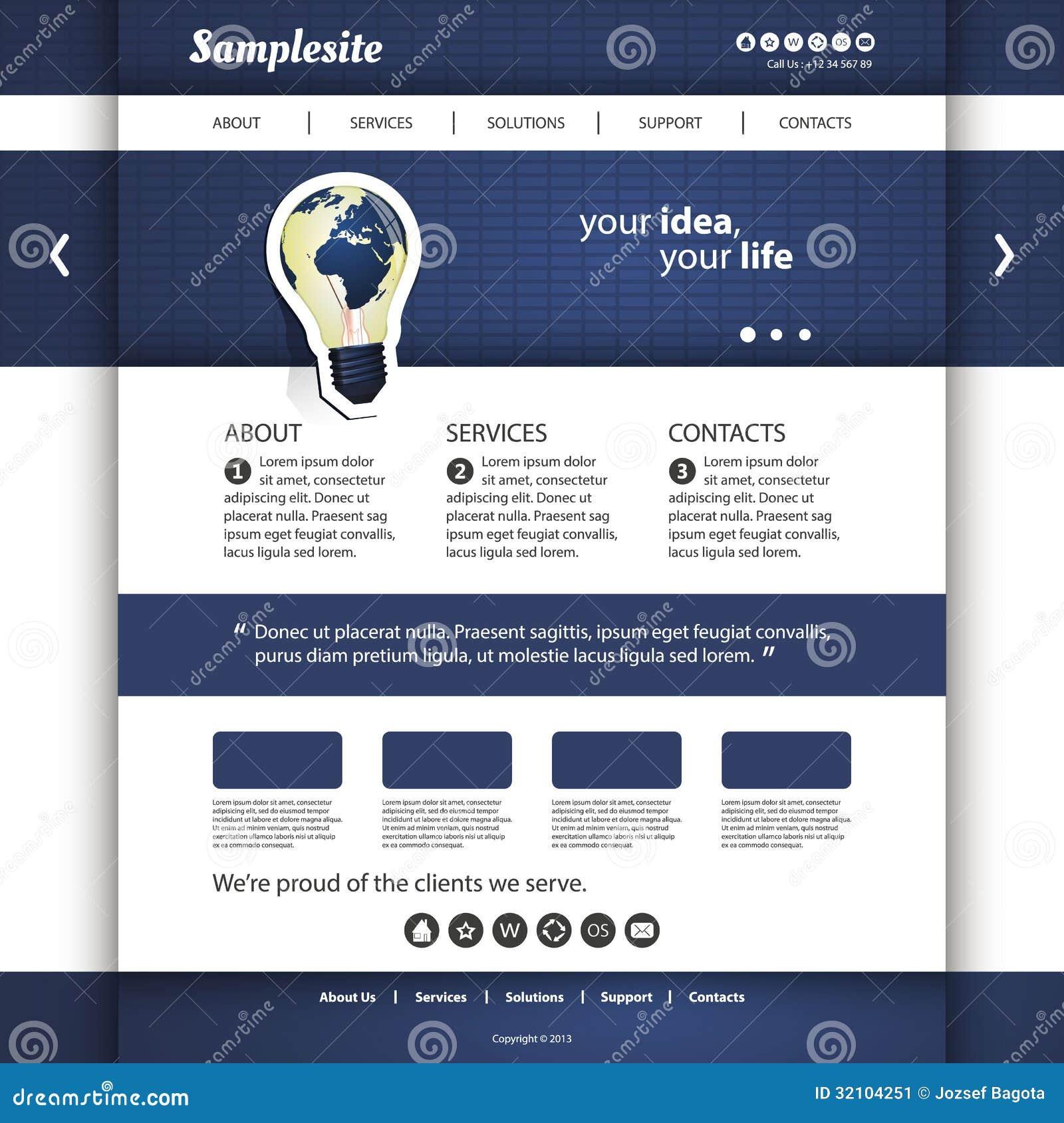 Website Template Stock Vector. Image Of Homepage, Login