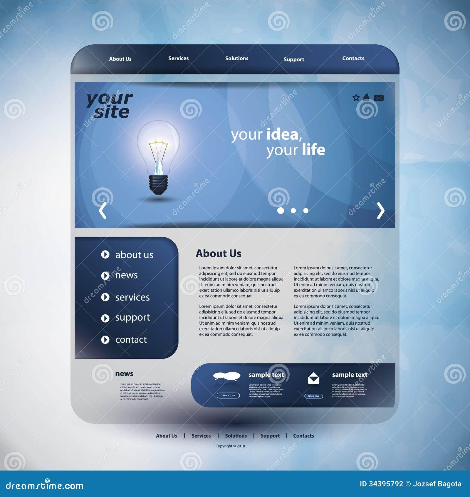 Studio Lighting Website: Website Template Stock Photography